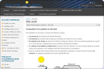 Cliquez pour visiter la page Le photovoltaïque en site isolé.