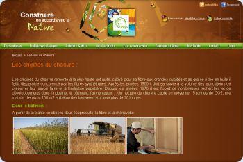 Cliquez pour visiter la page isolation ecologique en chanvre.