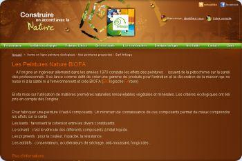 Cliquez pour visiter la page peinture ecologique.
