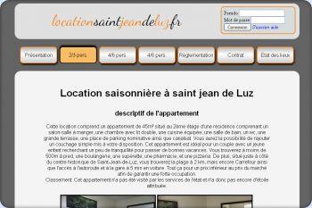 Cliquez pour visiter la page Location saisonnière à Saint jean de luz.
