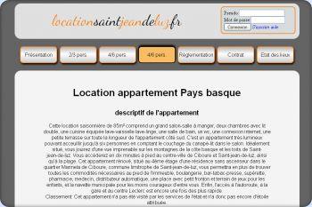 Cliquez pour visiter la page Location appartement Saint jean de luz Ciboure.