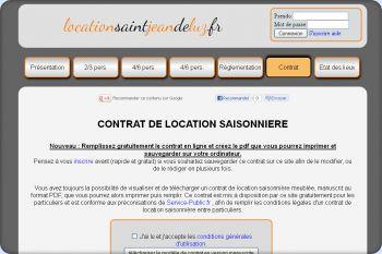 Cliquez pour visiter la page Contrat location saisonnière .