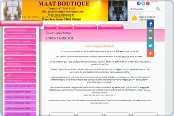 Cliquez pour visiter la page Lotion haitienne - lotion antillaise.