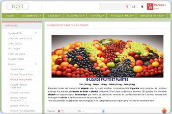 Cliquez pour visiter la page Eliquide Fruits et Plantes.