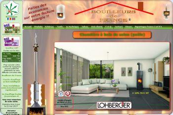 Cliquez pour visiter la page Poêle chaudière bouilleur bois bûche  LOBO par Bouilleurs de France.