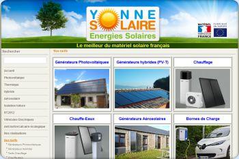 Cliquez pour visiter la page Tous les tarifs de YonneSolaire.