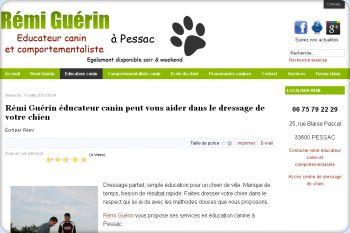Cliquez pour visiter la page Educateur canin Bordeaux.