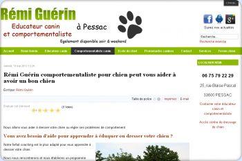 Cliquez pour visiter la page Comportementaliste canin à Bordeaux.