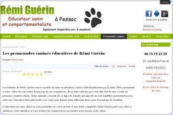 Cliquez pour visiter la page Promenades canines à Bordeaux.