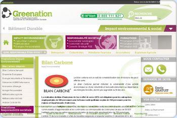Cliquez pour visiter la page Bilan Carbone.