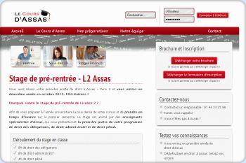 Cliquez pour visiter la page Stage de pré-rentrée L2 à Assas Paris II .
