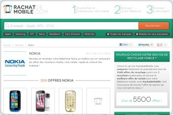 Cliquez pour visiter la page recyclage mobile marque Nokia.
