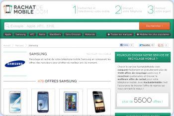 Cliquez pour visiter la page reprise de mobile marque Samsung.