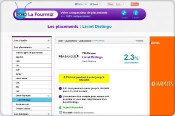 Cliquez pour visiter la page Livret Distingo PSA : calculer la rentabilité du livret.