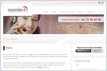 Cliquez pour visiter la page Coursier Paris.