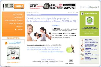 Cliquez pour visiter la page Musculation et fitness.