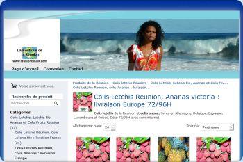 Cliquez pour visiter la page Colis letchis, ananas victoria de la Réunion.