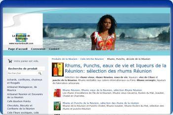 Cliquez pour visiter la page Boutique Reunion et selection Rhums Réunion.