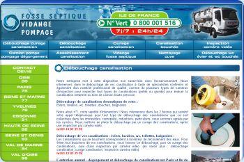 Cliquez pour visiter la page Debouchage canalisation.