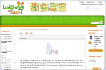 Cliquez pour visiter la page Jeux de dés Ludomus.