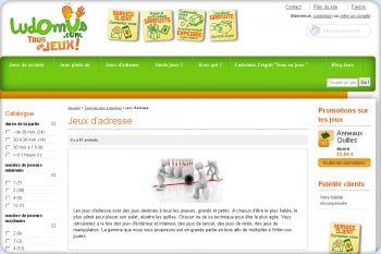 Cliquez pour visiter la page Les jeux d'adresse Ludomus .