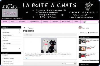 Cliquez pour visiter la page Papeterie chats.