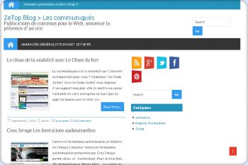 Cliquez pour visiter la page Blog de communication Internet.