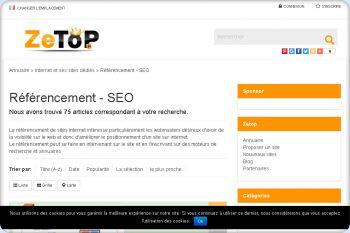 Cliquez pour visiter la page référencement de site.
