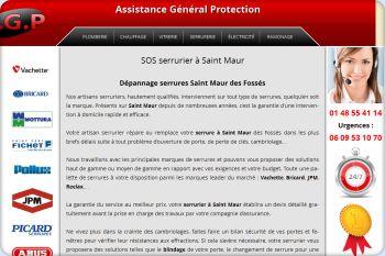 Cliquez pour visiter la page Serrurier Saint Maur.