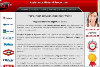 Cliquez pour visiter la page Serrurier à Nogent sur Marne.