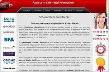 Cliquez pour visiter la page Plombier Saint Mandé.