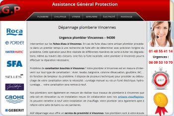 Cliquez pour visiter la page plombier à Vincennes.