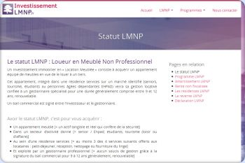 Cliquez pour visiter la page Statut LMNP.