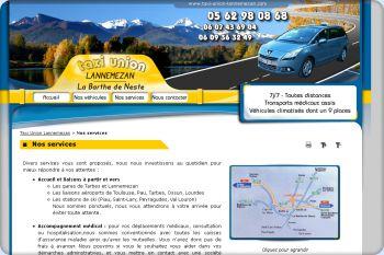 Cliquez pour visiter la page Les services proposés par Taxi Union.