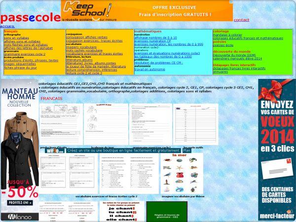 Cliquez pour visiter le site Passecole enseignement et soutien scolaire