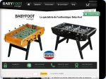 La vignette du site Catalogue en ligne de baby-foot