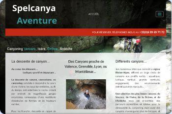 Cliquez pour visiter la page canyoning rhône-alpes.