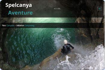 Cliquez pour visiter la page Initiation canyoning dans le vercors.