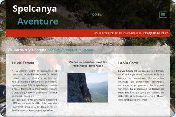 Cliquez pour visiter la page  via corda et via ferrata dans le Vercors et la Drôme.
