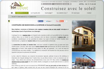 Cliquez pour visiter la page Constructeur maison bois Auvergne.