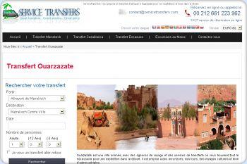 Cliquez pour visiter la page Transfert à Ouarzazate.