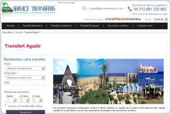 Cliquez pour visiter la page Transfert à Agadir.