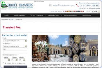 Cliquez pour visiter la page Transfert à Fes.