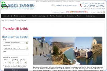 Cliquez pour visiter la page Transfert à El Jadida.