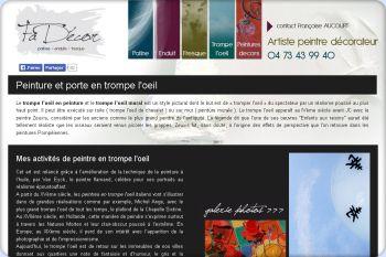 Cliquez pour visiter la page Trompe l'oeil de Fadécor - Décoration intérieure Clermont Ferrand.