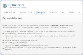 Cliquez pour visiter la page cancer de la prostate opération.