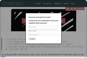 Cliquez pour visiter la page Conversion site en flash.