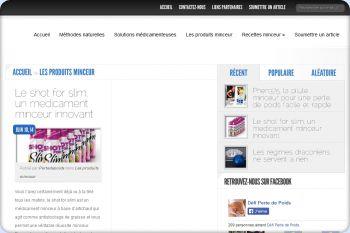 Cliquez pour visiter la page Les différents produits minceur et la perte de poids.