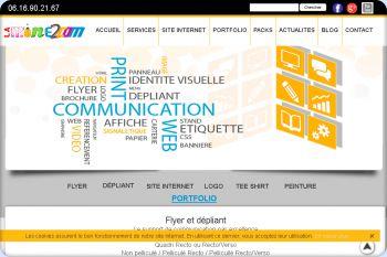 Cliquez pour visiter la page Page Portfolio du site de communication LAMINE2COM.fr.