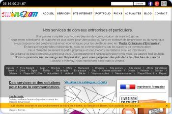 Cliquez pour visiter la page Page des services du site de communication LAMINE2COM.fr.